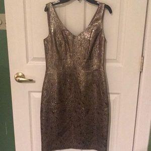 LAUREN/ RALPH LAUREN gold dress